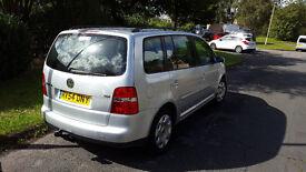 7 seat VW Touran