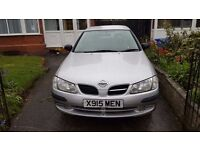 Nissan Almera 2000 reg silver for spares or repairs £275 ono