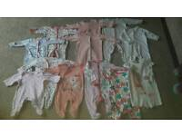 Bundle of baby grows - barely worn!