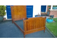 Super Single Antique Pine Bed in Great Condition