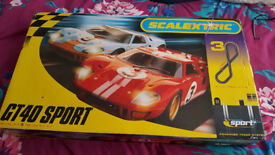 Scalextric track and pads boxed