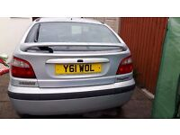 2001 Renault megane dynamique 1.6 silver Cheap to run, tax and insure.