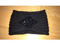 Beaded black headband