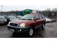 2002 (02 Reg) Hyundai Santa Fe 2.4 4x4 SW For £995 Mot'd 15/03/2018, Drives very well