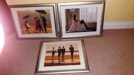 Three Jack Vettriano Framed Prints