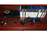 Ps2 with 40 games accessories etc retro