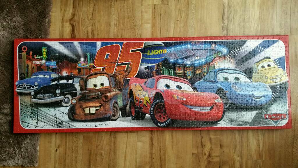Disney Cars Panoramic Framed 1000 pc Jigsaw Puzzle | in Speedwell ...