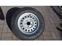 Caravan wheel and tyre. 5 stud