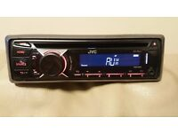 CAR HEAD UNIT JVC CD MP3 PLAYER WITH USB IPOD READY AND AUXAUX 4 x 50 WATT STEREO AMPLIFIER AMP
