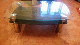 COFFEE TABLE - GLASS/CHROME