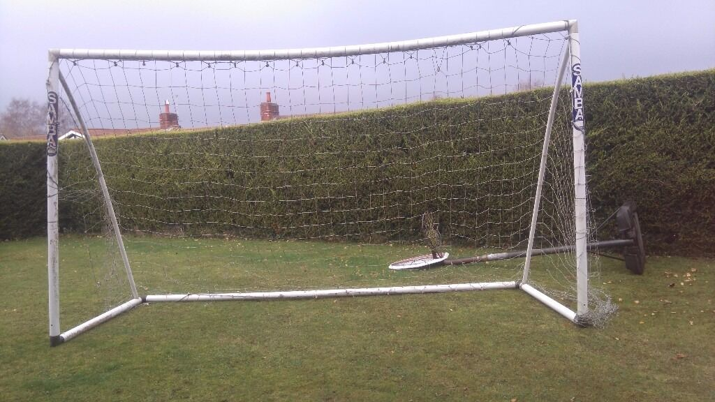 Football goal postsin Broadstone, DorsetGumtree - 4m x2m football goal posts. Net could do with repair in a few places but still usable