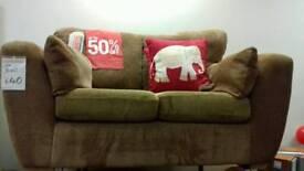 Brown cord sofa 2 seater