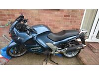 BMW touring motorbike side panniers and sat nav included kept in garage