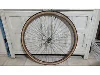 """Front Wheel 27"""" with New 27 x 1 1/4 Tyre"""