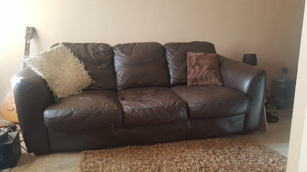 Super Brown Leather 3 Seat Sofa And Chair In Maidstone Kent Gumtree Gmtry Best Dining Table And Chair Ideas Images Gmtryco