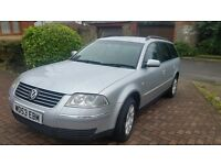 Vw passat estate, I year mot, central lock, cheap on fuel and tax, great drive, very economical