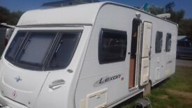 2008 LUNAR LEXON 585 WITH SOUGHT AFTER ISLAND BED 4 BERTH. AWNING LOVELY CONDITION. READY FOR HOLS.