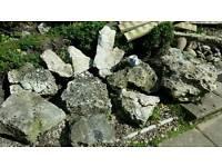 Garden rockery large stones
