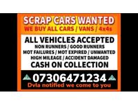 💷☎️ SCRAP CARS VANS MOTORCYCLE WANTED CASH ANY CONDITION DAMAGED COLLECT FAST