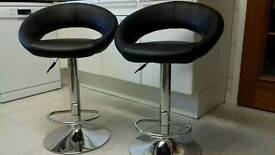 Leather bar stools