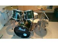 Pearl Export Kit plus hardware, cymbals, extras