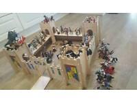 wooden toy castle