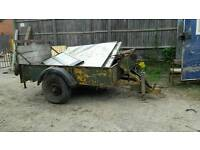 Trailer with ramp land-rover wheels with winch 10x4.5