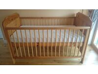 Solid Pine Cot Bed