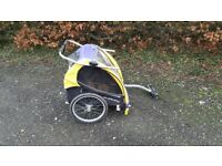 Burleigh D Lite kids cycle trailer tag along stroller