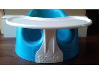Bumbo seat with feeding tray