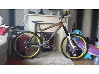 Kona downhill mountain bike.