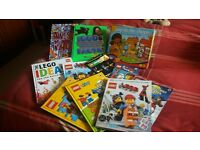 selection of lego books in excellent condition