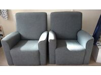2 Gray Fabric Armchairs