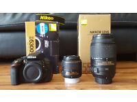 Nikon D5300 24.2MP DSLR (including 2 lenses)