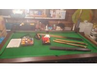 Pool table 6x3ft