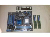 Intel Pentium E5800 @ 3.2Ghz + ASUS P5G41T-M LX2/GB Motherboard + 4GB RAM, CPU Motherboard Combo