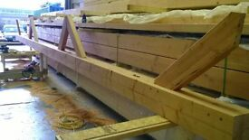 Douglas Fir laminated timber (Glulam) posts/beams