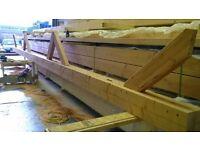 Douglas Fir laminated timber (Glulam) posts/beams