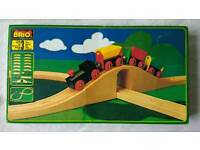 Wooden Brio kids train set 1980s