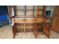 Wooden bookcase/dresser