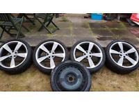 Audi 20 inch RS5 Black Edition Rotor Alloys