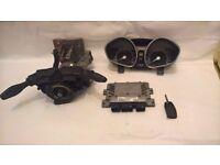 ford fiesta mk7 1.25 dashclocks ecu and ignition barrel and key