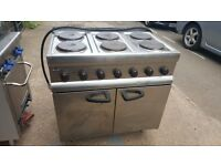 6 RING ELECTRIC COOKER LINCAT WITH FAN ASSISTED OVEN SECOND HAND USED COOKER