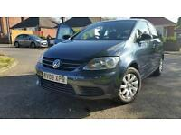 Volkswagen Golf plus 1.9 tdi Diesel 2008 blue graphite metallic Mot Till july 2017
