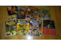 80 x judge dredd 2000AD rogue trader book one / comics / annuals