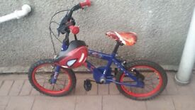 Spiderman boy's bike 4-7 year old