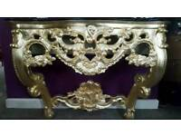 BEST PRICE! ! ! console table rococo baroque french ornate carved gilding leaf