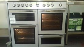 Electric twin oven range