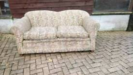 Victorian two seater drop end sofa