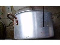 large galvanised pan & lid for use at decorative planter bedding display